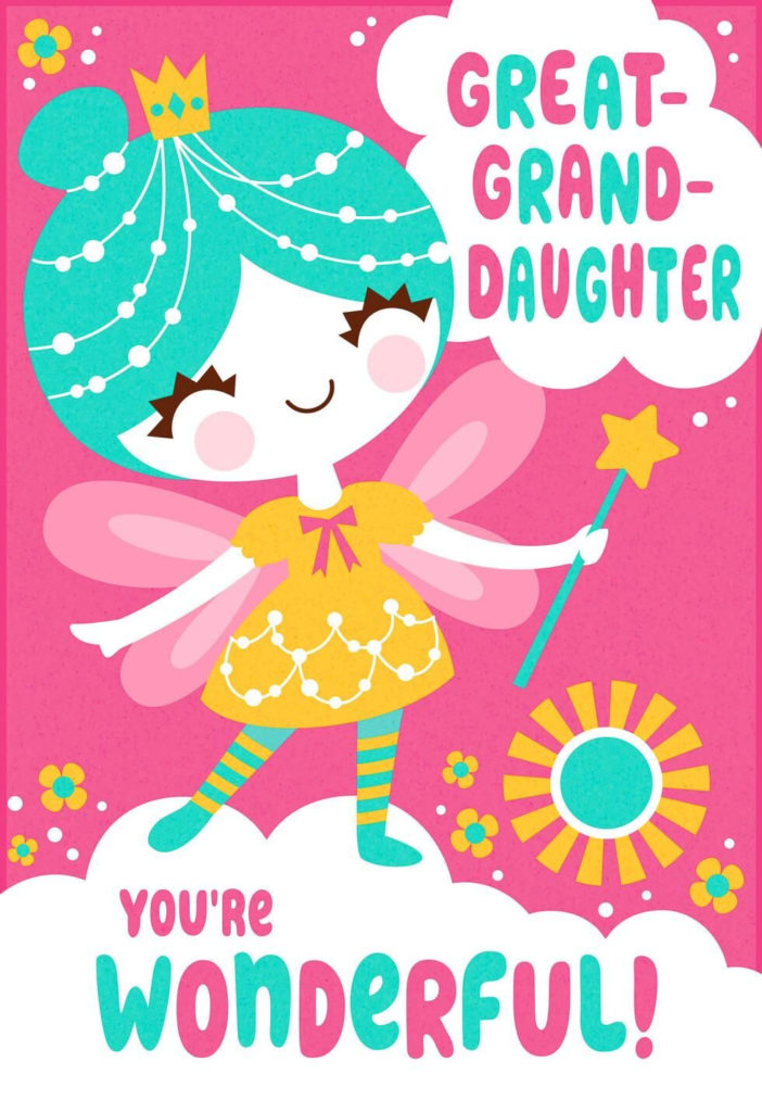 Something Magical Birthday Card For Great Granddaughter