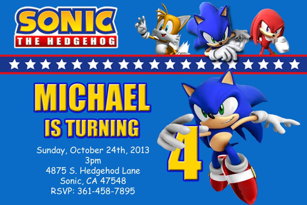 Sonic The Hedgehog Birthday Invitations DolanPedia