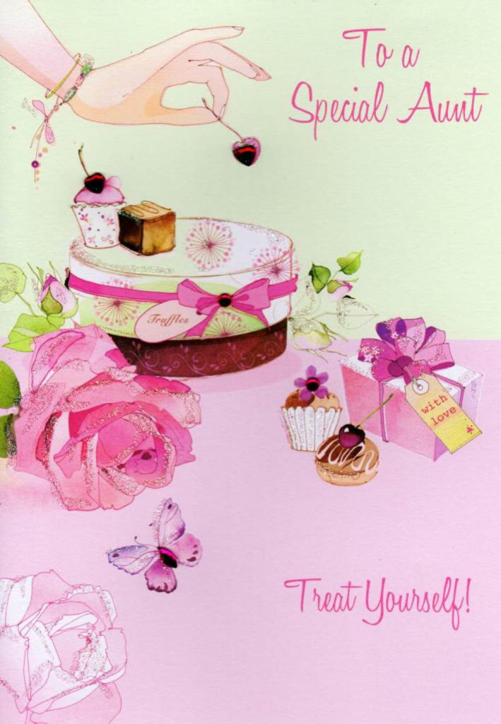 Special Aunt Birthday Card Water Colours By Second Nature