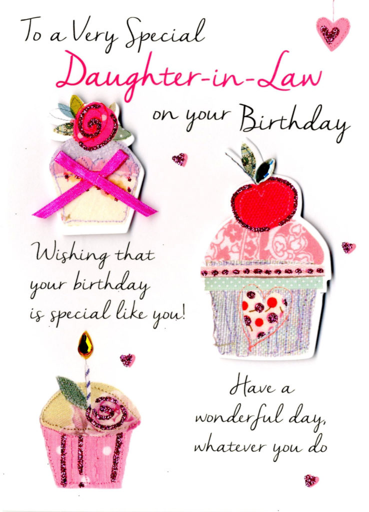 Special Daughter In Law Birthday Greeting Card Second