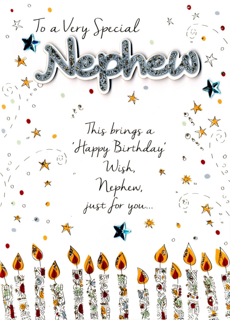 Special Nephew Birthday Greeting Card Cards