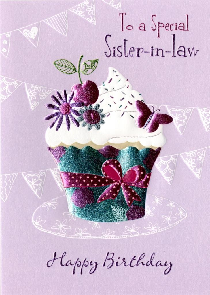 Special Sister In Law Birthday Greeting Card Second Nature