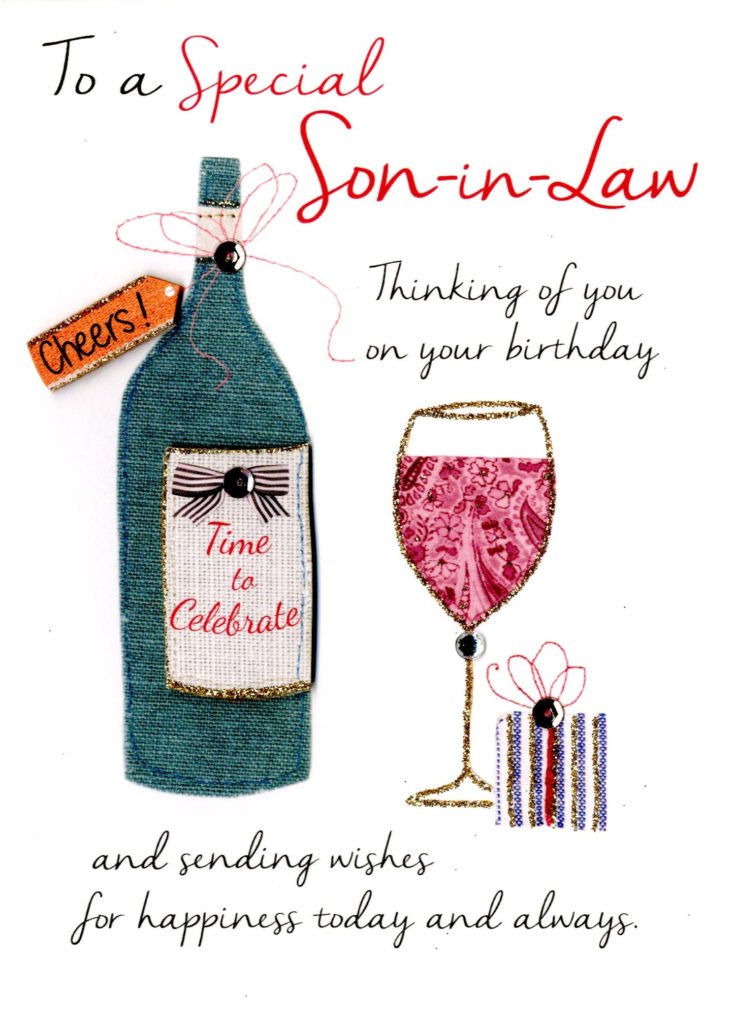Special Son In Law Birthday Greeting Card Cards