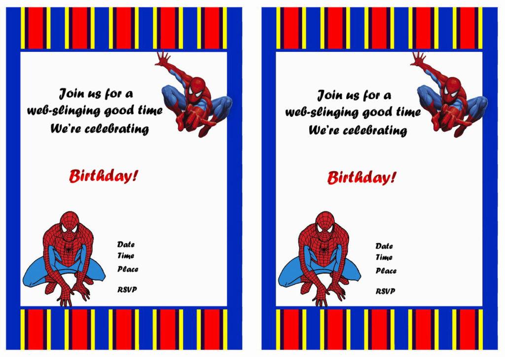 Spiderman Birthday Invitations Birthday Printable