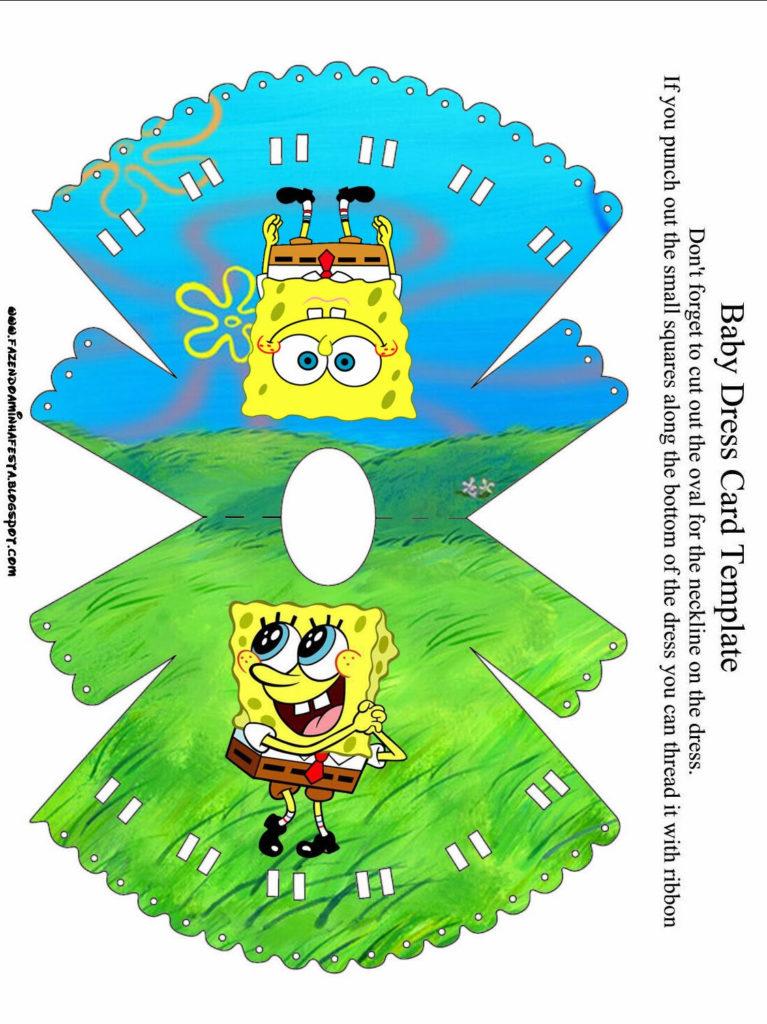 SpongeBob SquarePants Free Printable Cards And
