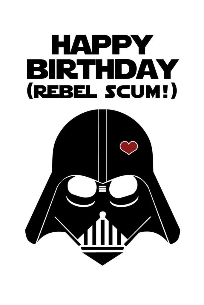 Star Wars Funny Birthday Card DIY Printable