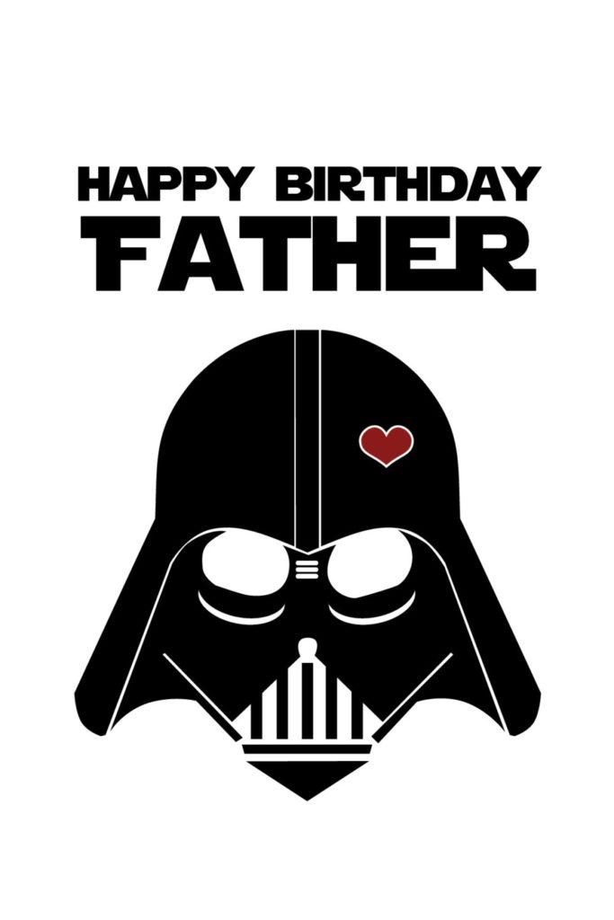 Star Wars Funny Birthday Card For Dad DIY Printable