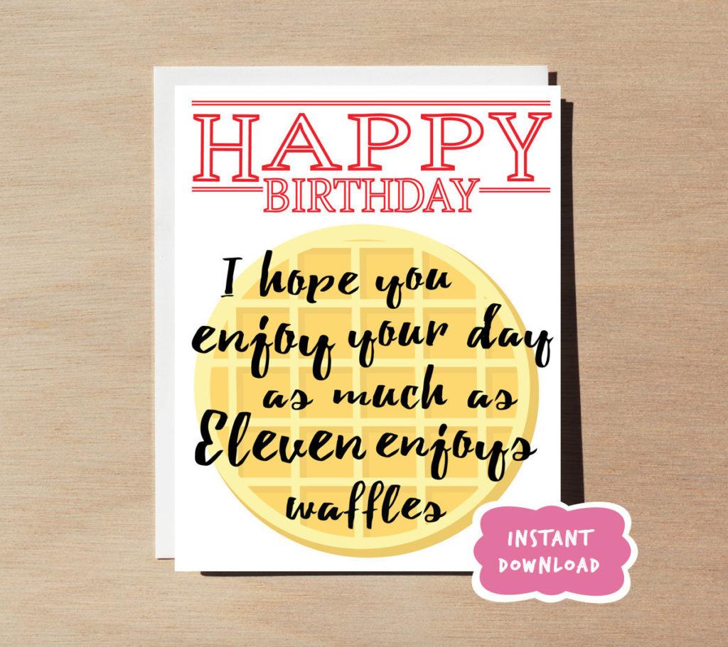 Stranger Things Birthday Card Digital Download Printable