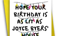 Stranger Things Birthday Card Printable