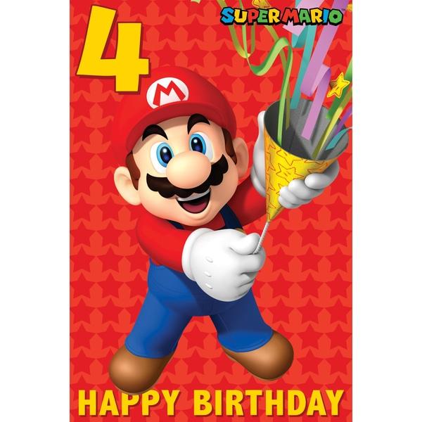 Super Mario Birthday Card Partyware Ireland