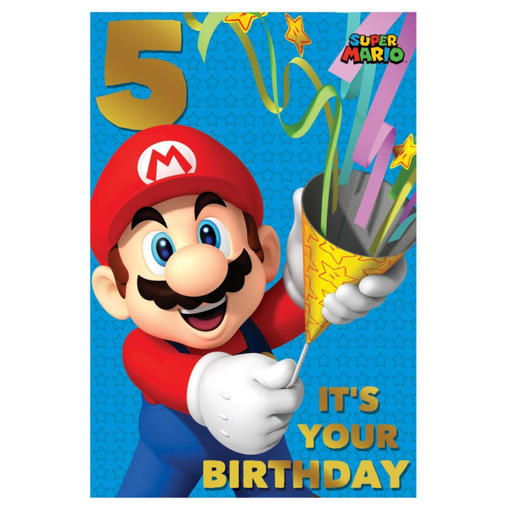 Super Mario Bros 5th Birthday Card 251784 Character Brands