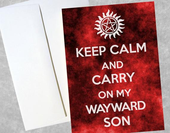 Supernatural Greeting Card 5 X 7 Full Color By AndroidSheepFTW