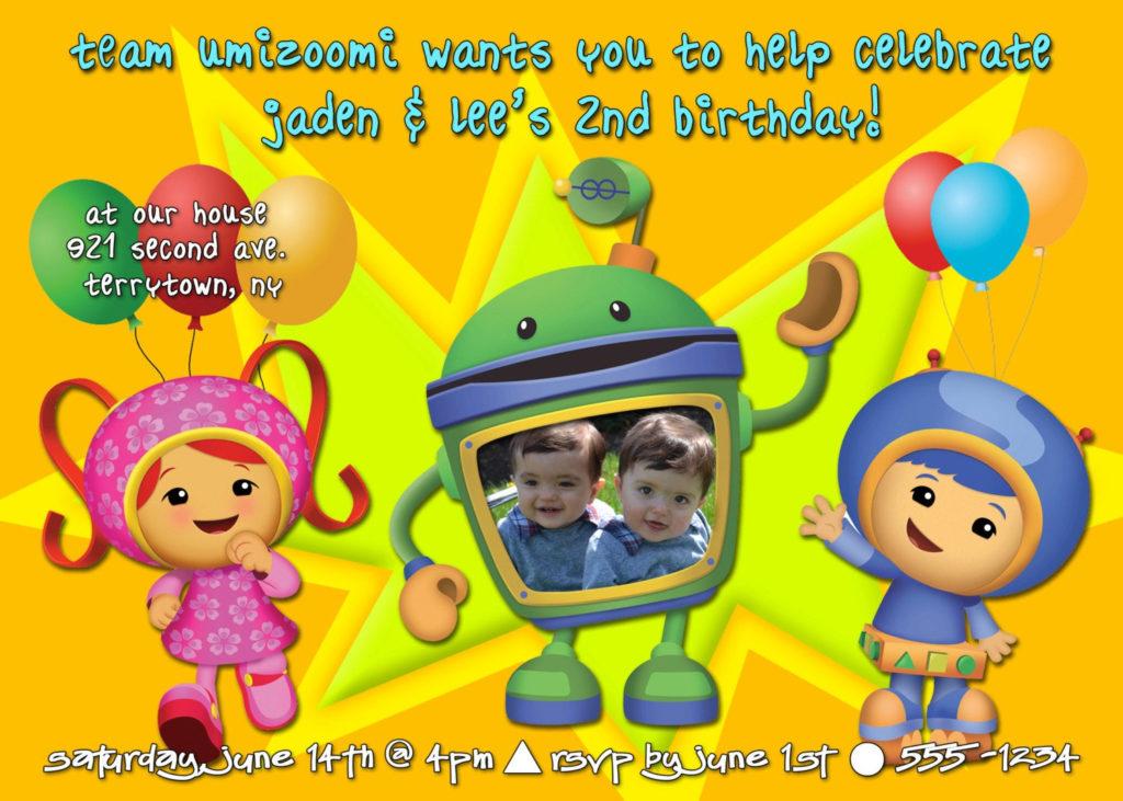 Team Umizoomi Birthday Party Invitation Printable