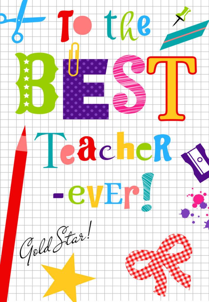 Thank You Teacher Thank You Card For Teacher Free