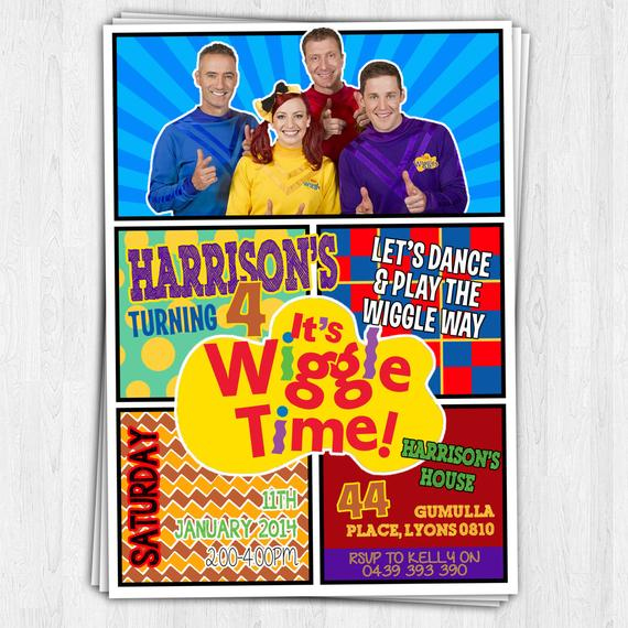 THE NEW WIGGLES Birthday Invitation 2013 14 By