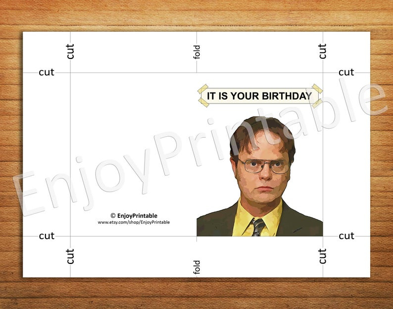 The Office Birthday Card Office Tv Show Cards Printable It
