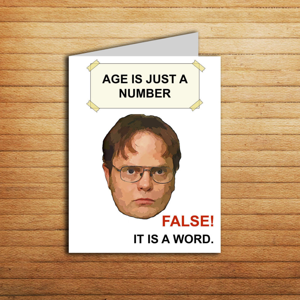The Office Tv Show Birthday Card Printable The Office Cards