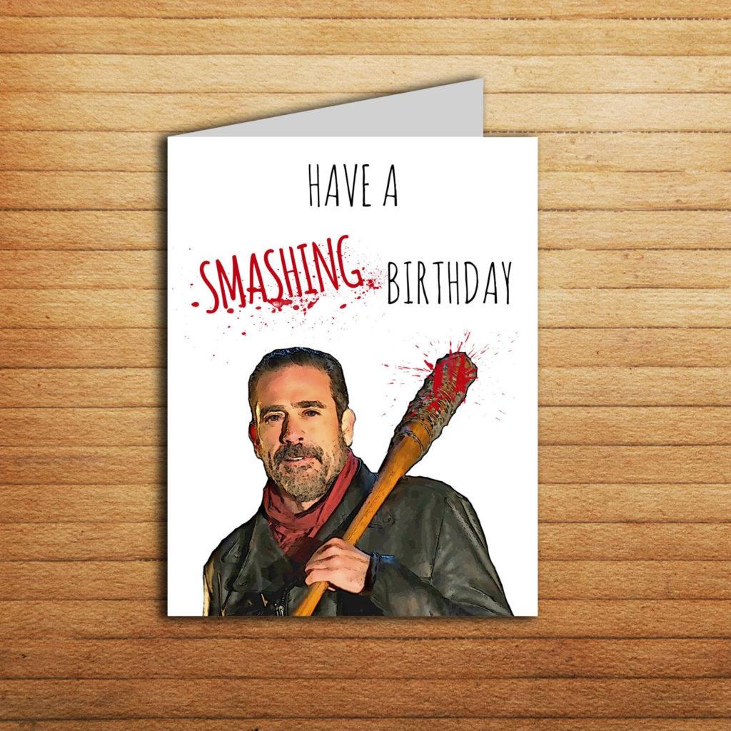 The Walking Dead Birthday Card Printable Funny Negan Card