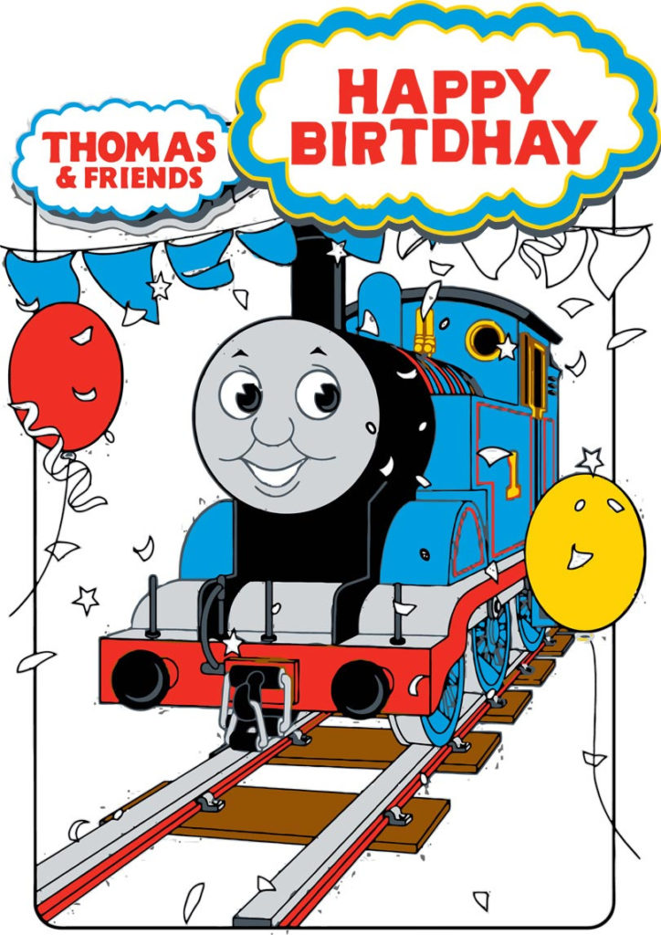 Thomas And Friends Birthday Card Free Printable Cards