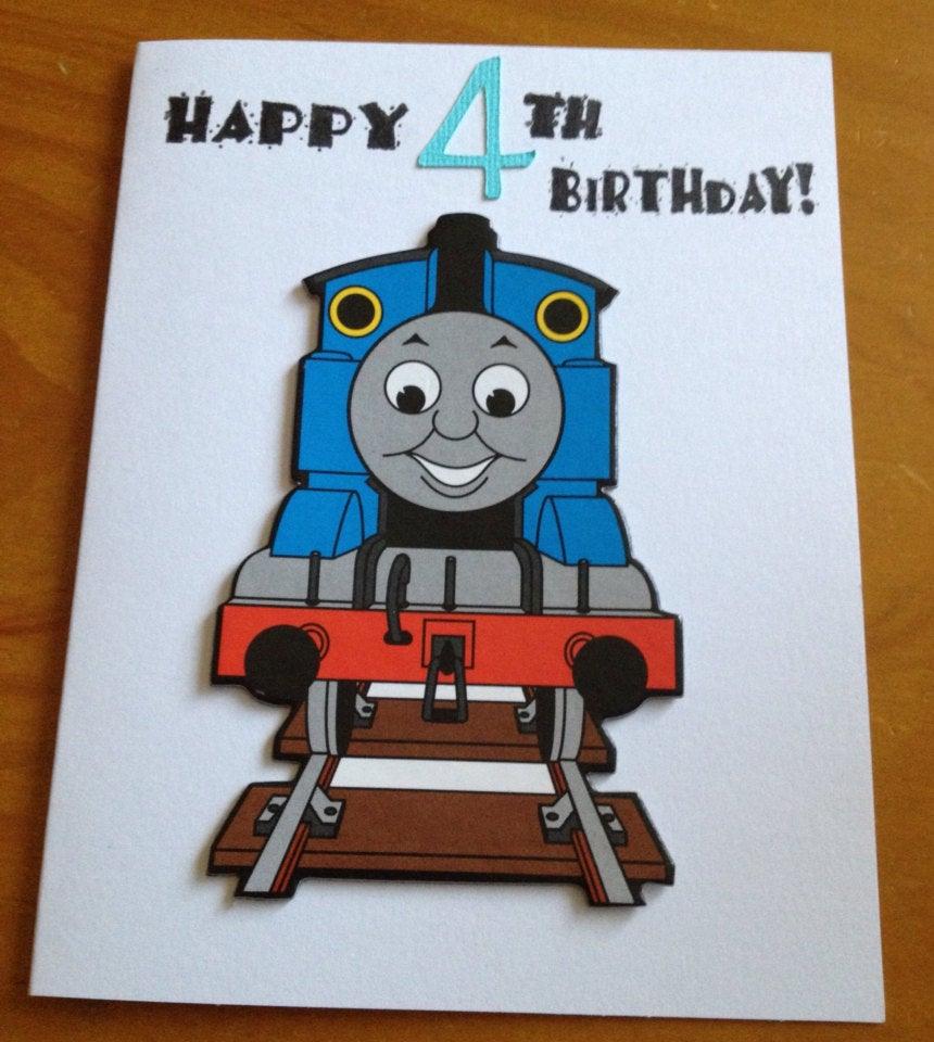 Thomas The Train 4th Birthday Card