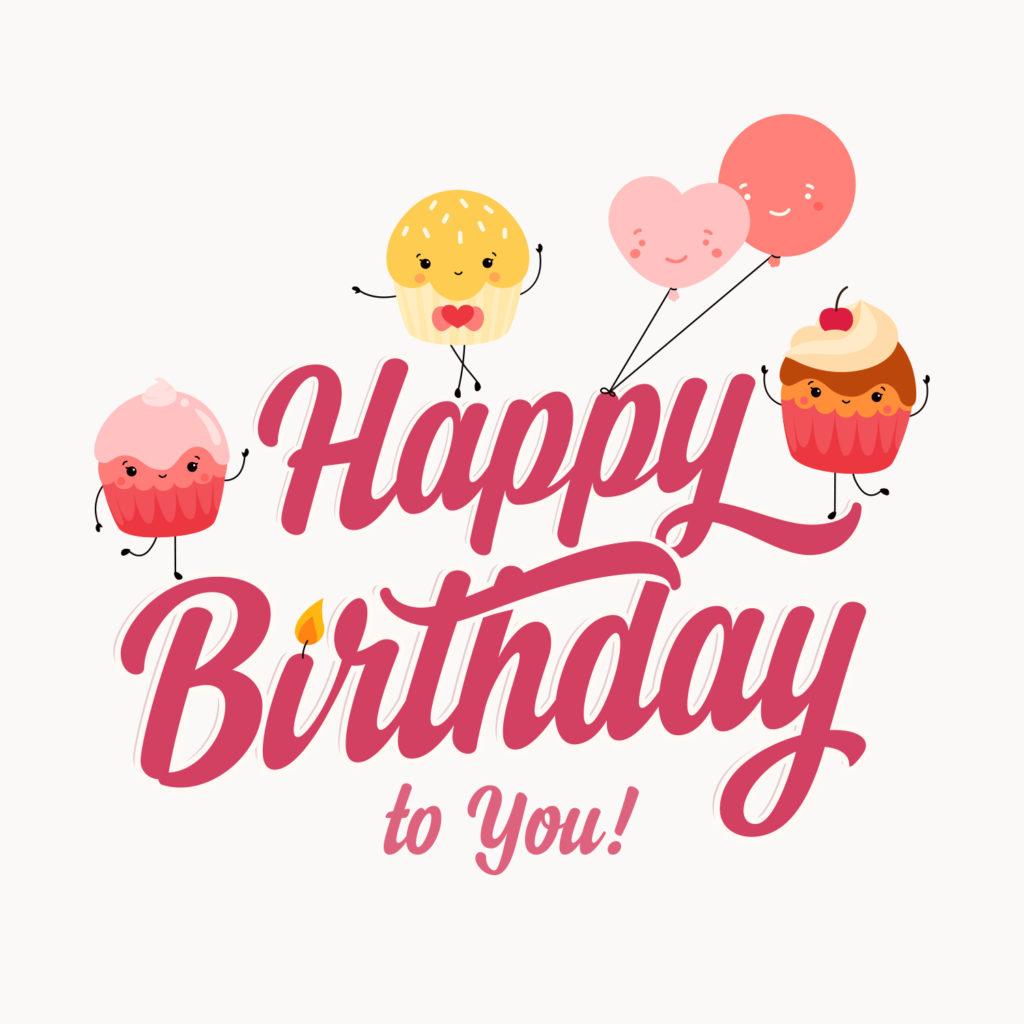 Three Cupcakes Birthday Card Greetings Island