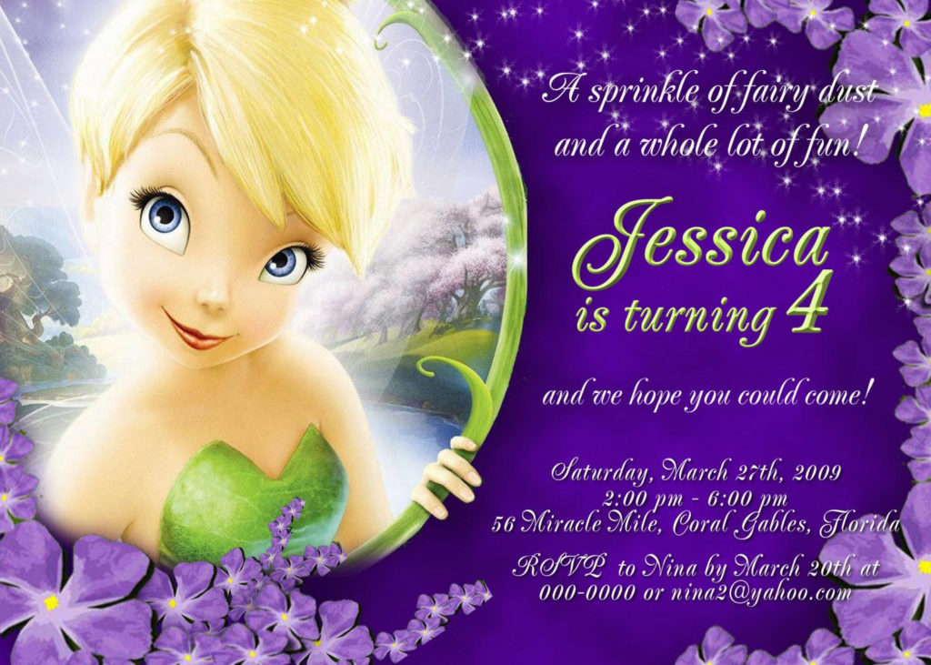 Tinkerbell Personalized Birthday Invitations By