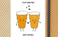Beer Birthday Card Printable