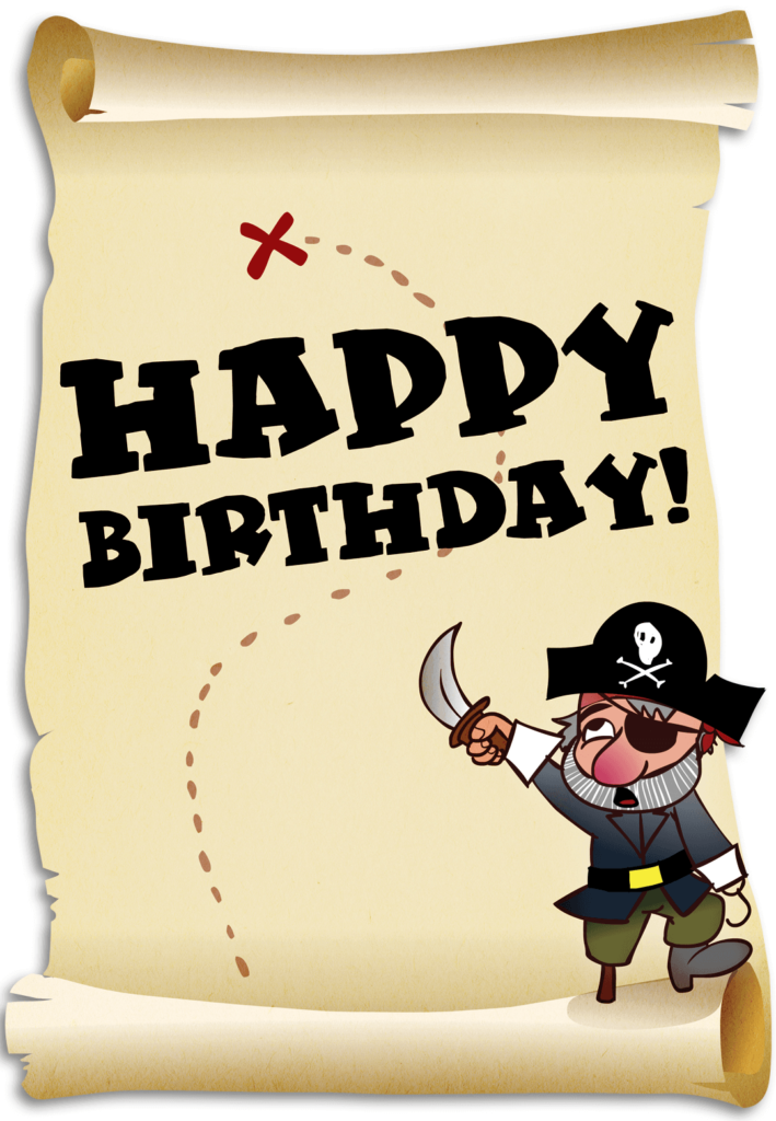 Treasure Map And A Pirate Birthday Card Greetings Island
