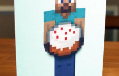 Minecraft Birthday Card Printable