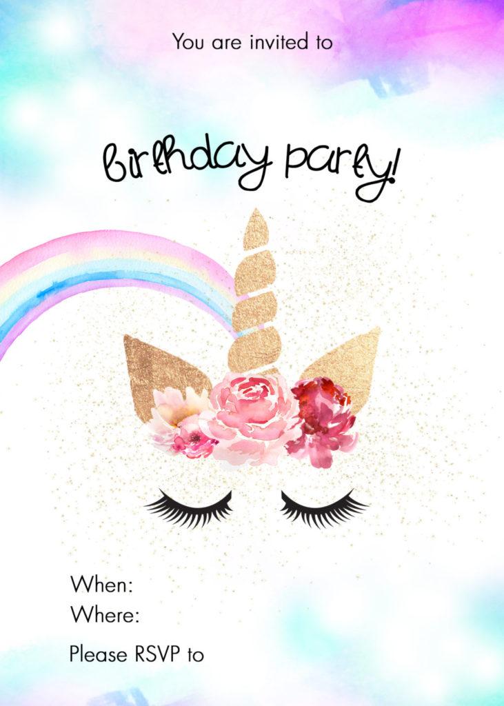 Unicorn Birthday Party Ideas W FREE Printable The DIY
