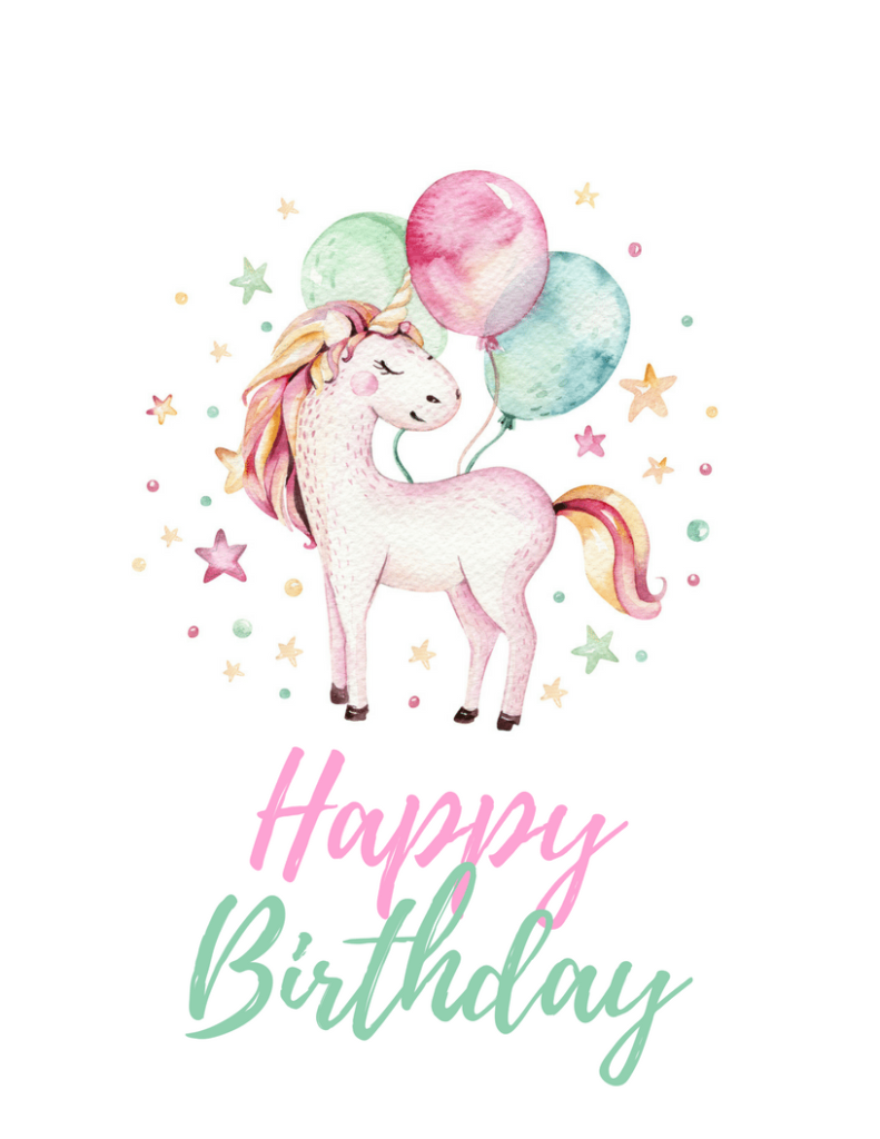 Unicorn Party Free Printables TINSELBOX