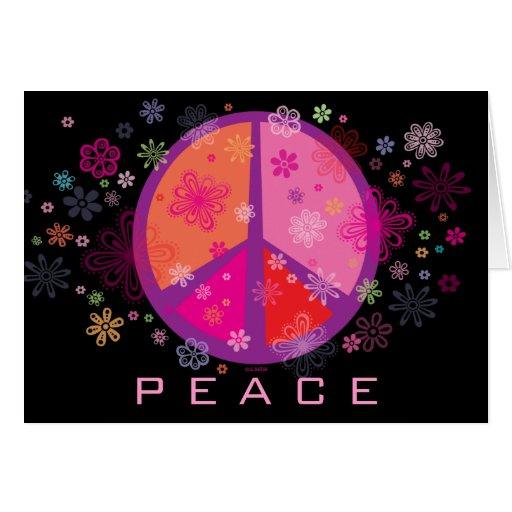Valentine Peace Sign Greeting Card Zazzle