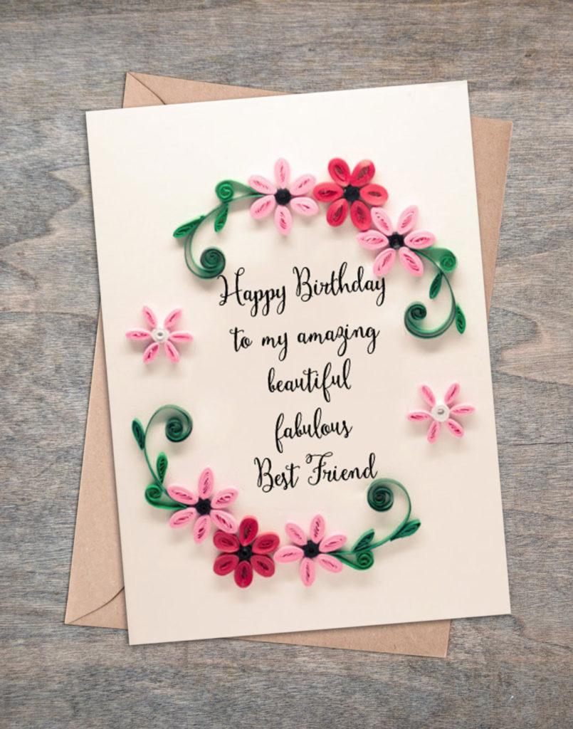 Valentine Present Best Friend Birthday Card Girlfriend