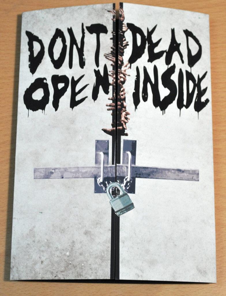 Walking Dead Birthday Card Don t Open Dead Inside With