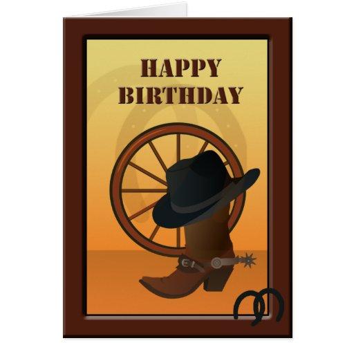 Western Cowboy Custom Birthday Card Zazzle