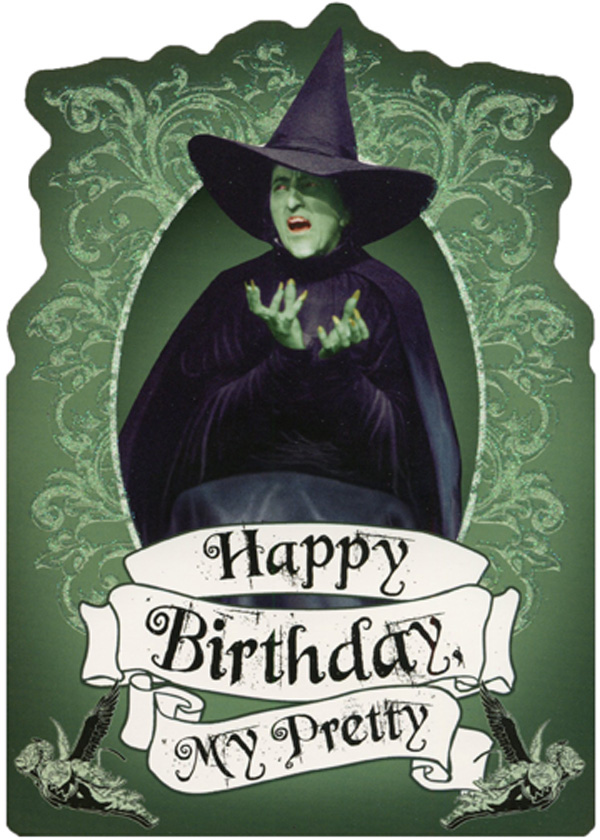 Wicked Witch Sparkling Green Die Cut Glitter Wizard Of Oz