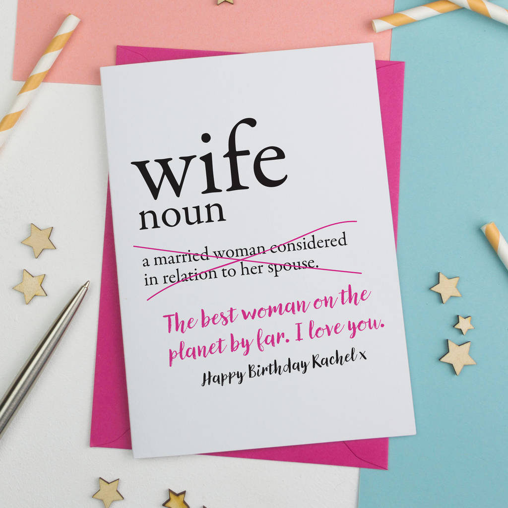 Wife Birthday Card By A Is For Alphabet