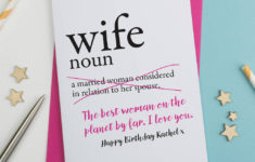 Printable Birthday Cards Wife Funny