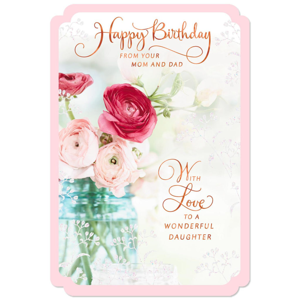 Wishes For A Wonderful Daughter Birthday Card From Mom And