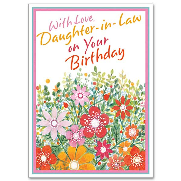 With Love Daughter in Law On Your Birthday Daughter In