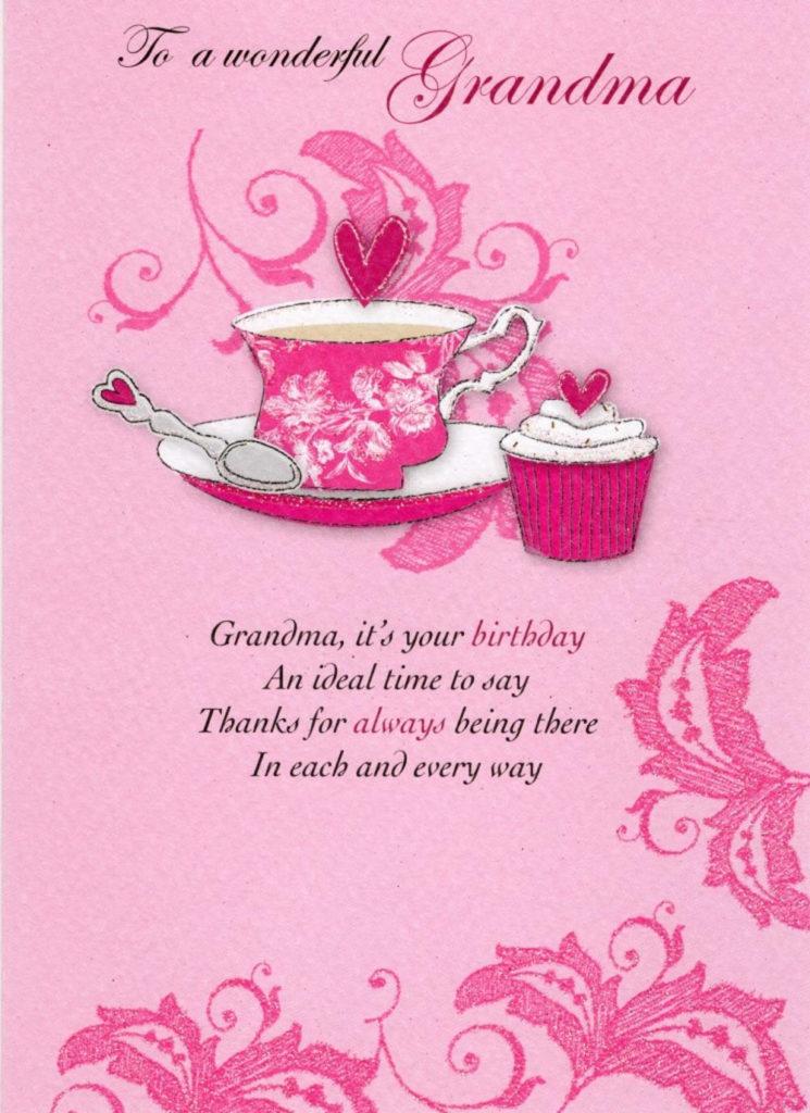 Wonderful Grandma Birthday Greeting Card Cards Love Kates