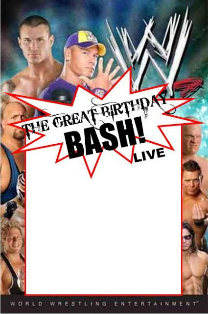 WWE Party Invitation Template Copy Paste And Edit On