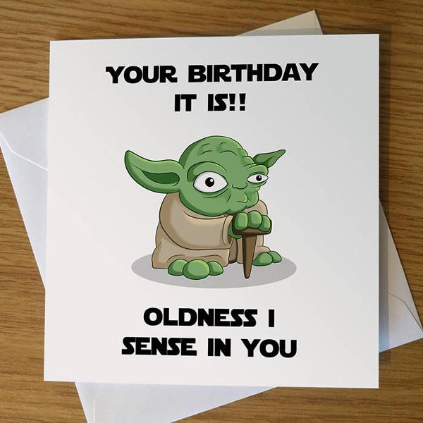 Yoda Birthday Card Example
