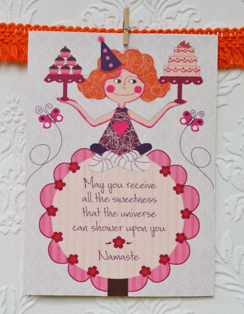 Yoga Birthday Cardyoga Cardsbirthday Cards 5 X