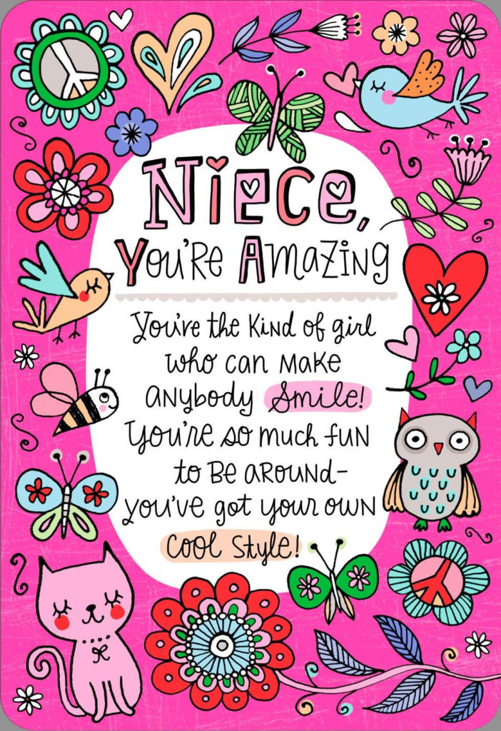 You re The Niece Families Dream About Birthday Card