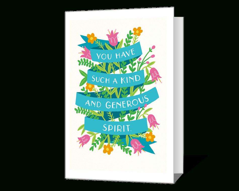 Your Generous Spirit Printable American Greetings