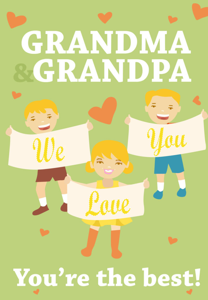 Youre The Best Grandparents Grandparents Day Card Free