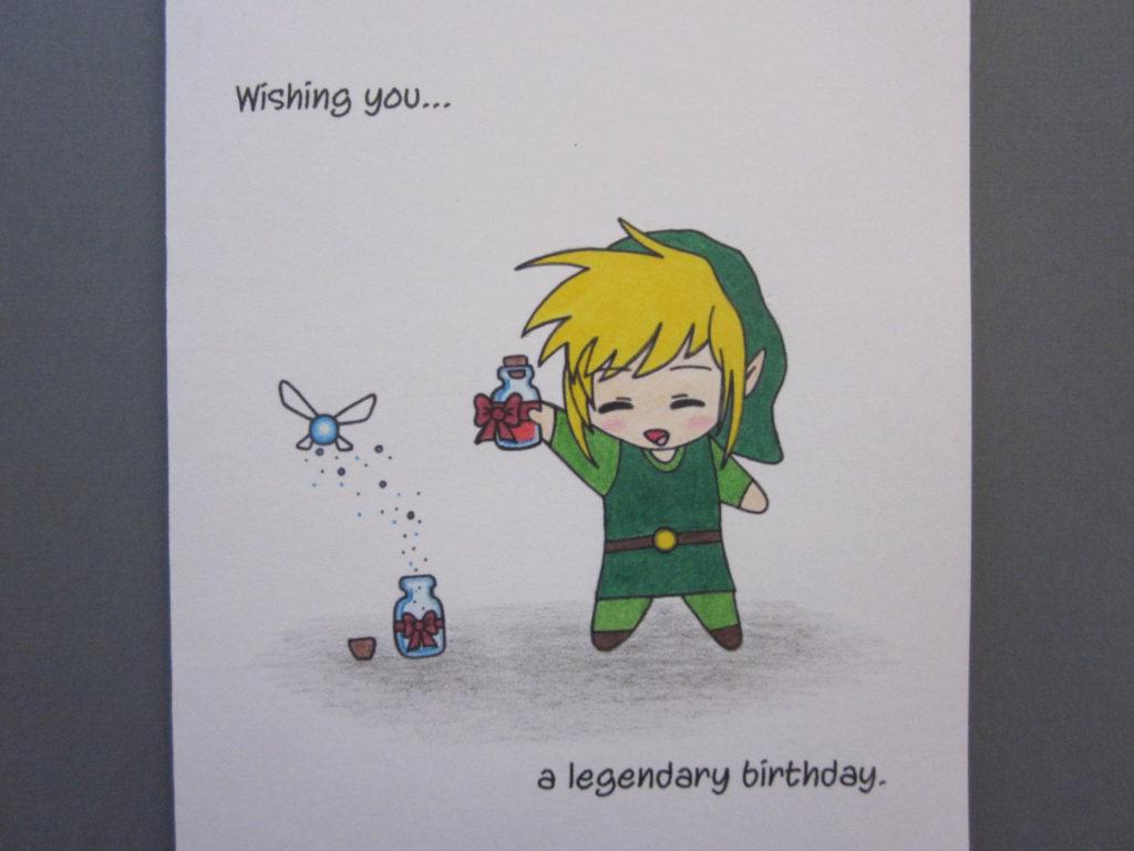 Zelda Inspired Birthday Card By ABitofImagination On Etsy